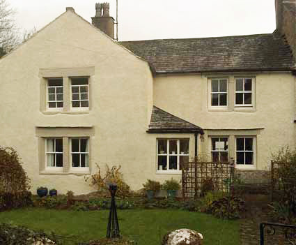 lime rendered dashed and silicate painted house near Carnforth