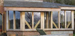 green oak framed summer room near Tiverton