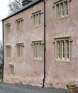 Lime rendered dashed and limewashed building in north Cumbria undertaken by Lattimer Construction with Jack in the Green